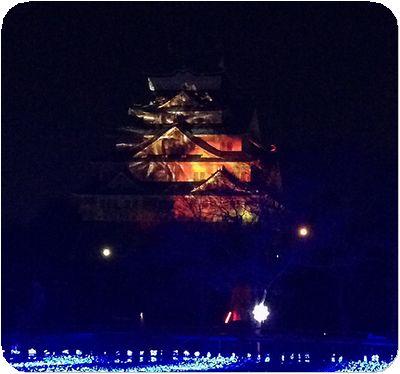 大阪城3Dマッピング12