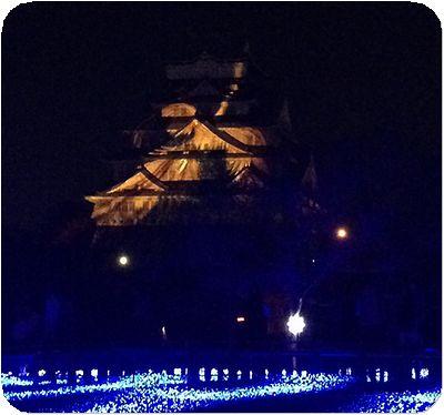 大阪城3Dマッピング14