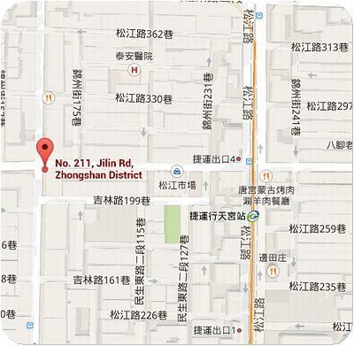 角子虎水餃館地図