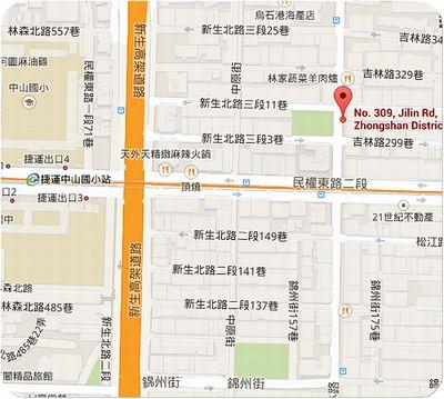東京銀座エバー地図