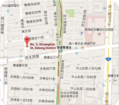 雙連街魯肉飯地図