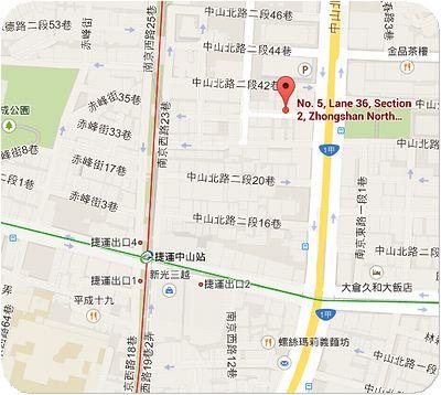 新長春川台菜館地図