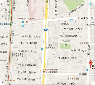 高家莊米苔目地図