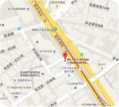 金峰魯肉飯地図