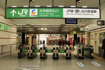 JR線・しなの鉄道線改札口