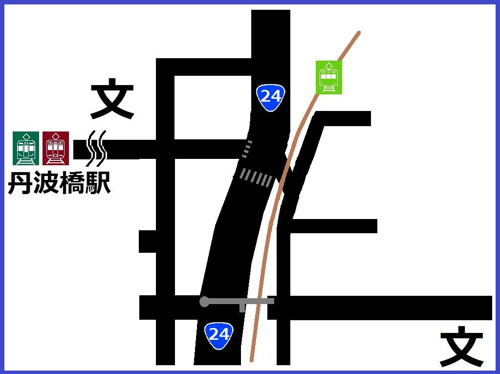 大和街道踏切図