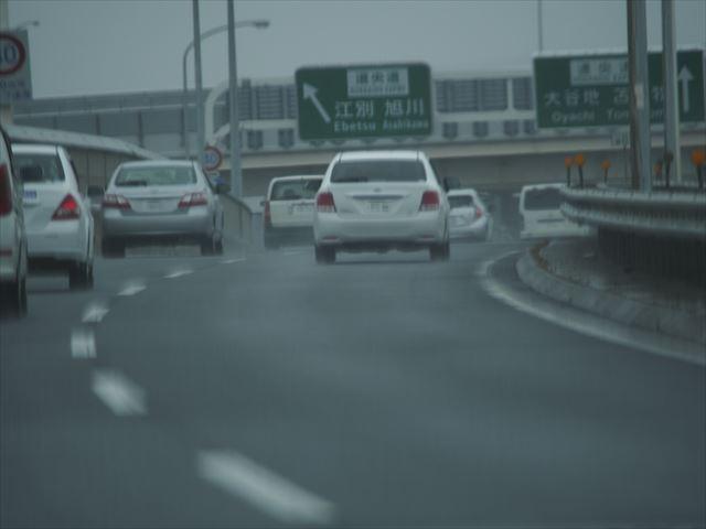 雨天時における札幌の高速道路その2