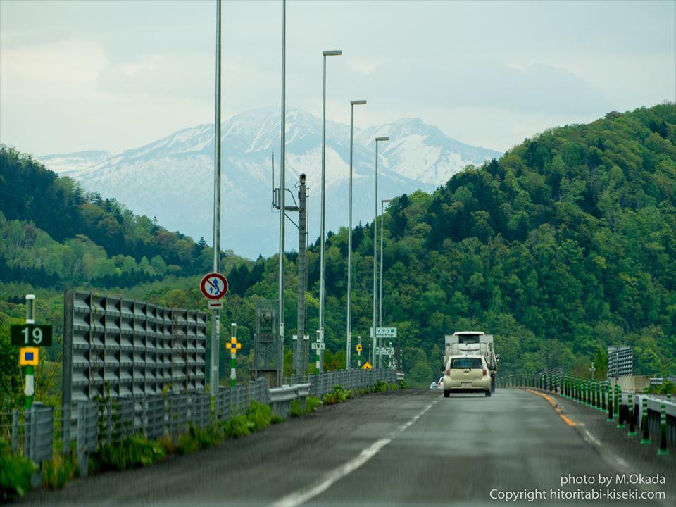 旭川紋別自動車道の走行風景