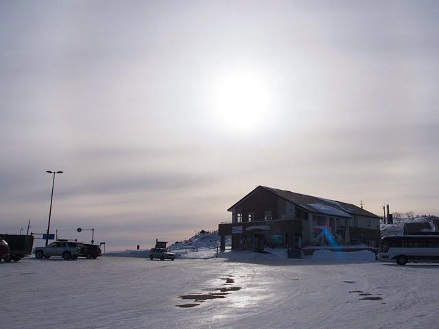 冬の美幌峠のレストハウス