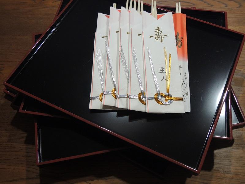 お正月の折敷とお箸