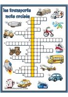 乗り物のクロスワード