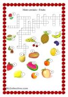 果物のクロスワード