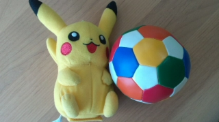 ball and pikachu