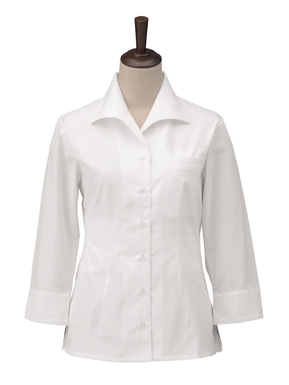 女子オープンシャツ 七分袖 S4301