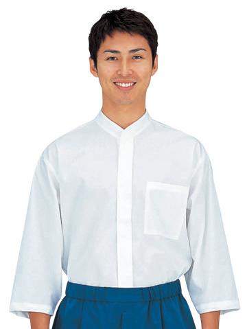 SBK3069 1.オフホワイト 和風シャツ男女兼用