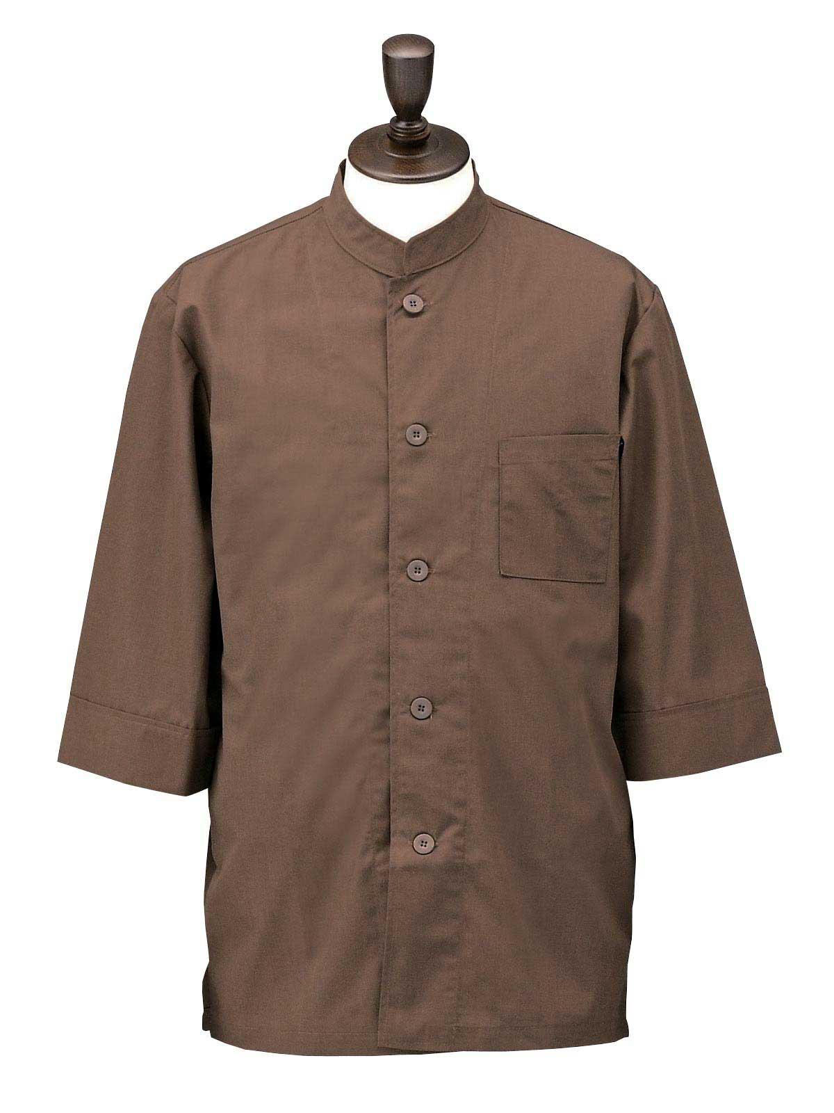 SBK3800 4.ブラウン コックシャツ・ダブル 男女兼用