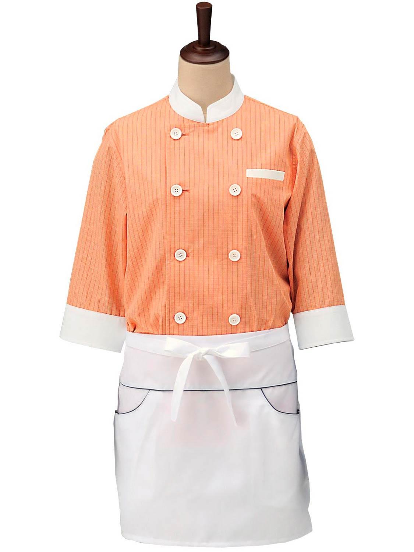 ストライプコックシャツ・スタンドカラー男女兼用 SBK4001