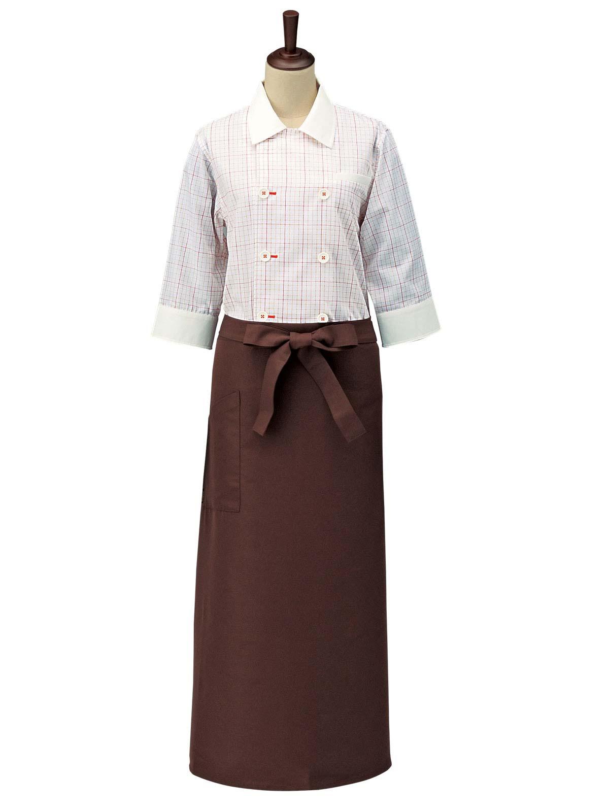 チェックコックシャツ・スタンドカラー男女兼用 SBK4101