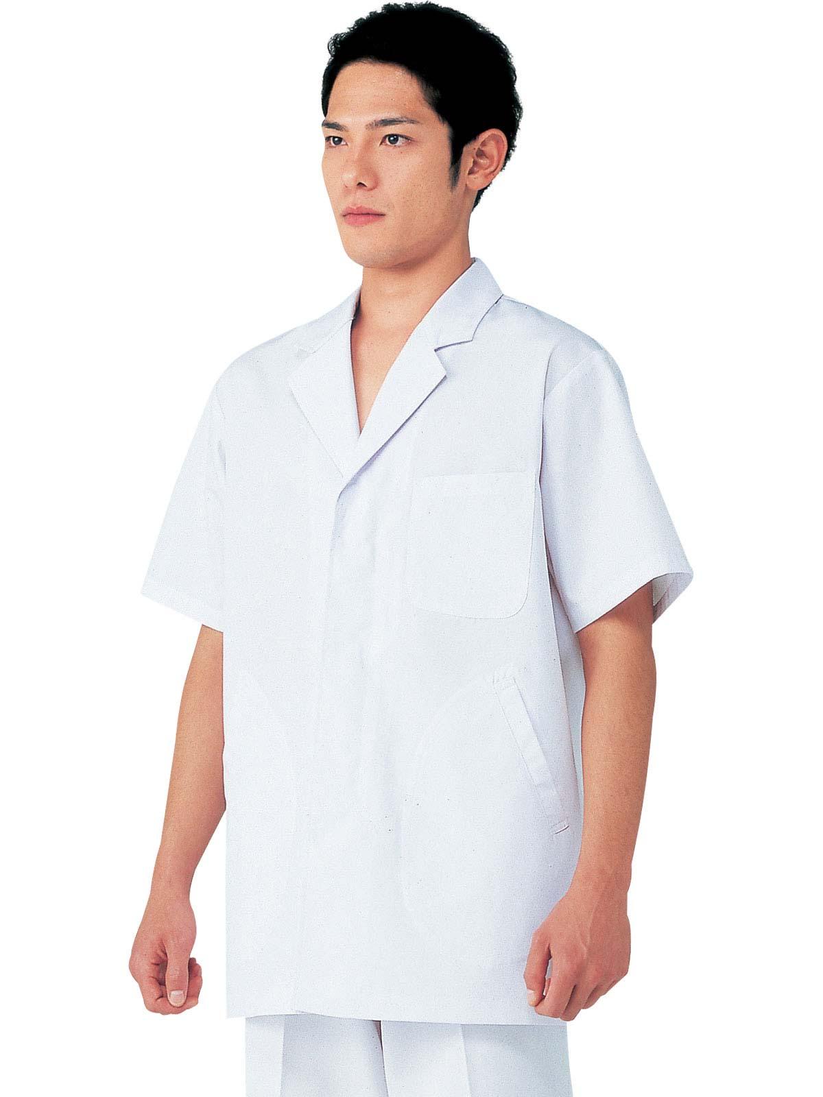 男子衿付半袖白衣 SKA312