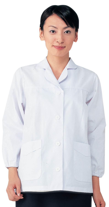 女子調理白衣長袖 SKA325