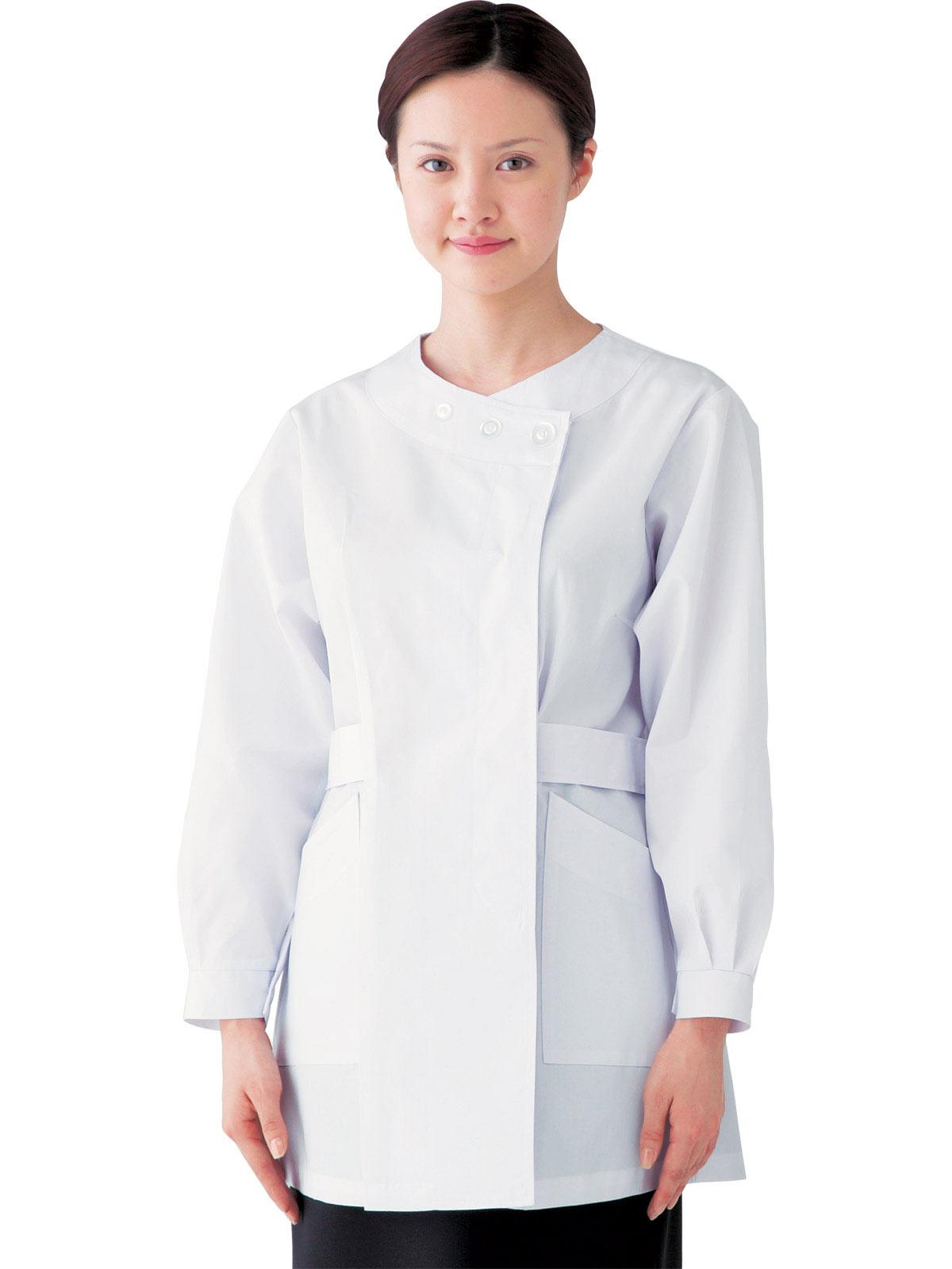 女子横掛長袖白衣 SKA730