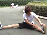 ゲイ動画:ランニング中のかわいい男子をナンパでGO !!