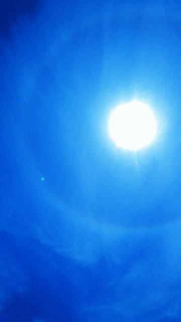 先月は連続しミーママの上空に天使の太陽リングが5月27日午前10時38分1