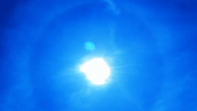 5月22日午後1時28分から1時間以上現れた天使の太陽リング2