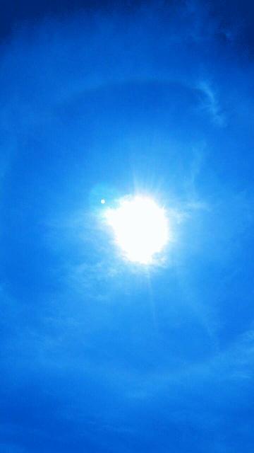 5月22日午後1時28分から1時間以上現れた天使の太陽リング3