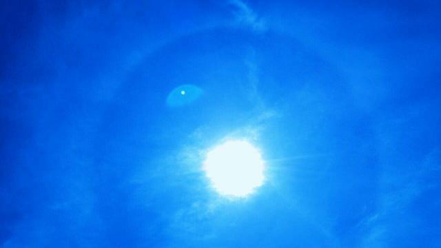 5月22日午後1時28分から1時間以上現れた天使の太陽リング5
