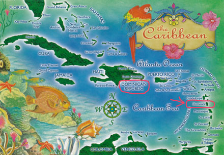 カリブの地図