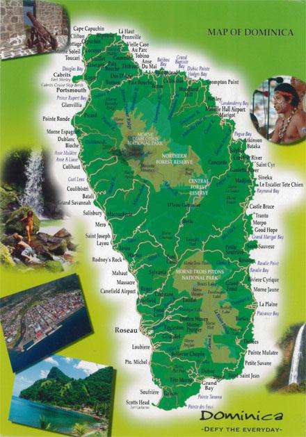 ドミニカ国の地図
