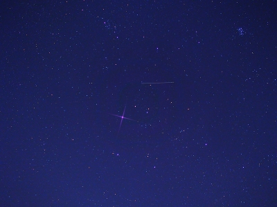 P1092617人工衛星とプレアディス