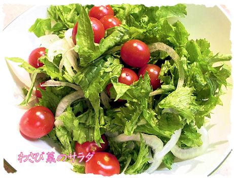 わさび菜のサラダ