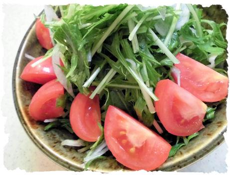 手早く簡単な水菜のサラダ