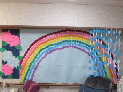 虹と雨とあじさい1