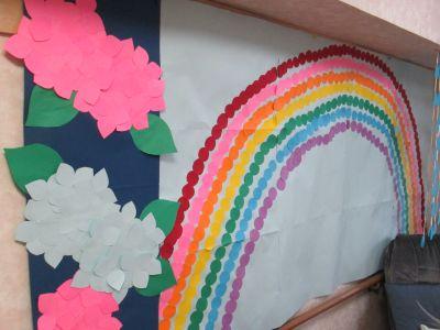 虹と雨とあじさい3