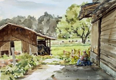 農場を描くひと