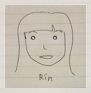 Rinの似顔絵その1