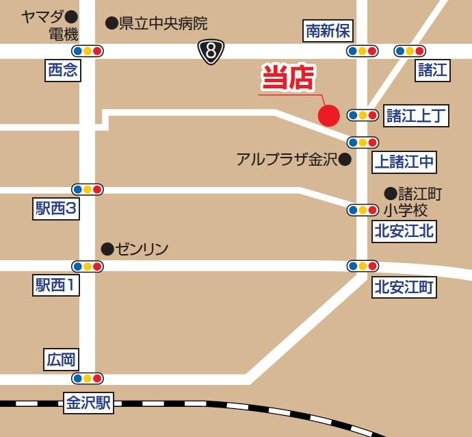 金沢店 地図