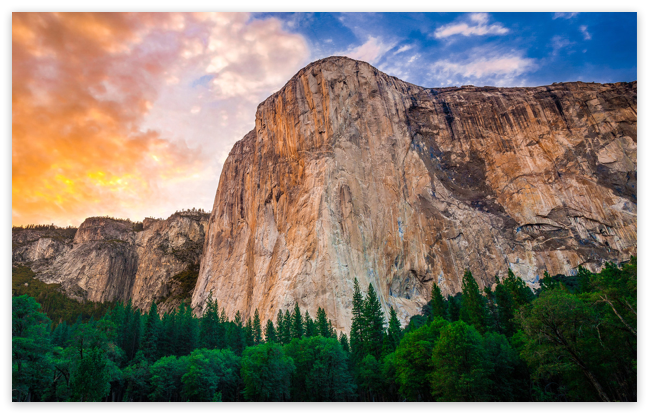 Yosemite's El Capitan Mountain Wall Wallpaper