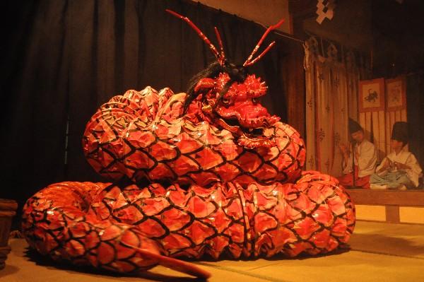 温泉津温泉 石見神樂 大蛇