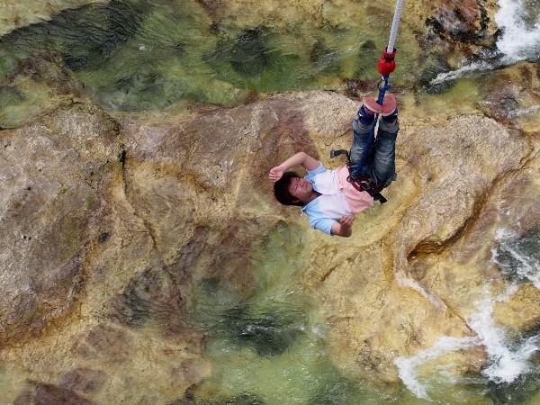 水上 諏訪峡大橋 バンジージャンプ