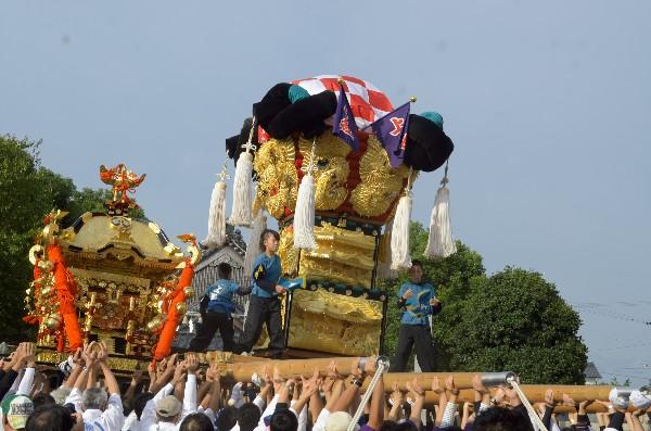 西条祭り 嘉母神社祭礼 上組子供太鼓台