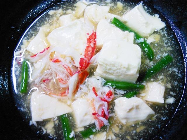 豆腐のカニとろみ
