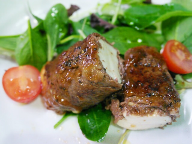 豆腐の肉巻ステーキ