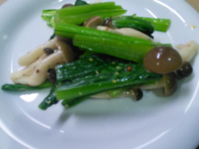 小松菜とえのきのポン酢和え
