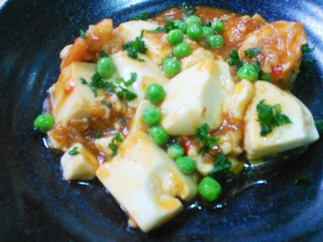 プリプリえびチリ豆腐