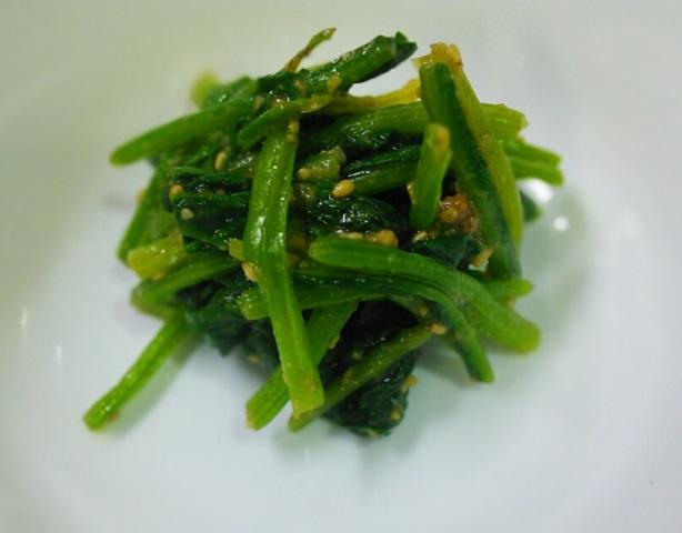 15ホウレン草の味噌胡麻和え