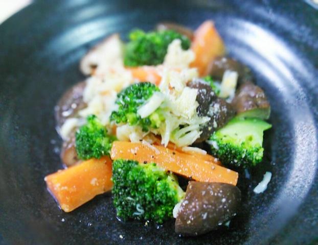 21ホタテと温野菜